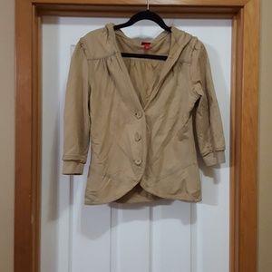Mossimo hooded 3/4 sleeve jacket